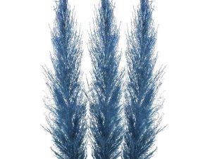 Κλαδί-Φυτό 3-85-909-0021 Σετ 3τμχ Υ150 Blue Inart Πλαστικό