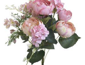 Μπουκέτο Λουλουδιών 3-85-700-0016 H48 Pink Inart Πλαστικό