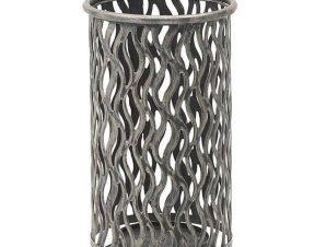 Ομπρελοθήκη 3-70-207-0126 20Χ45 Grey-Silver Inart Μέταλλο