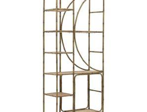 Ραφιέρα 3-50-407-0011 80Χ33Χ183cm Gold-Natural Inart