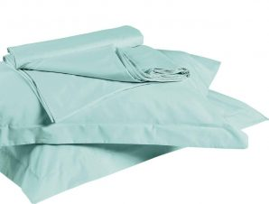 Σεντόνι True Colours 5306 Με Λάστιχο Turquoise Kentia Μονό 100x200cm