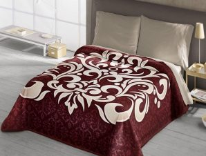 Κουβέρτα Ισπανίας Belpa Ster 289 Granate Adam Home Υπέρδιπλo 220x240cm
