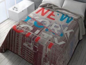 Κουβέρτα Ισπανίας Belpa New York 304 Beige Adam Home Μονό