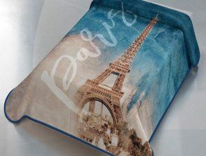 Κουβέρτα Ισπανίας Belpa Paris 303 Beige-Blue Adam Home Μονό
