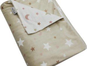 Κουβέρτα Βρεφική Ισπανίας Soft Plus Moon Beige Pierre Cardin Αγκαλιάς 80x110cm