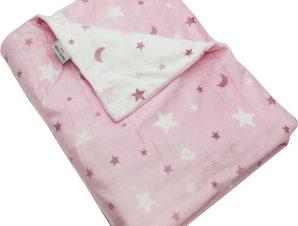 Κουβέρτα Βρεφική Ισπανίας Soft Plus Moon Pink Pierre Cardin Κούνιας 110x140cm