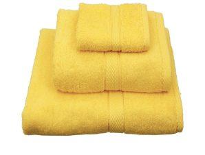 Πετσέτα Classic Κίτρινη Viopros Λαβέτα 30x30cm