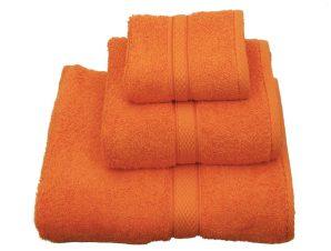 Πετσέτα Classic Πορτοκαλί Viopros Προσώπου 50x100cm