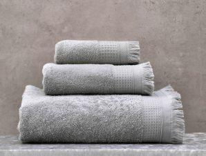 Πετσέτες Tanny Σετ 3τμχ Grey Ρυθμός Σετ Πετσέτες