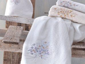 Πετσέτες Amantine Σετ 3τμχ White Ρυθμός Σετ Πετσέτες