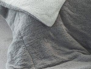 Κουβερτοπάπλωμα Melt Light Grey-Dark Grey Nima Υπέρδιπλo 220x240cm