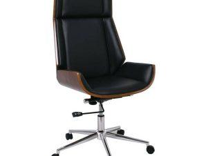 Πολυθρόνα Διευθυντή BF9850 ΕΟ537,1 65x66x112/117cm Wallnut-Black