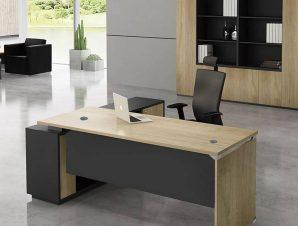 Γραφείο Project Δεξιά Γωνία Sonoma/Grey ΕΟ936,R 200×90/200×40 H.75/65cm