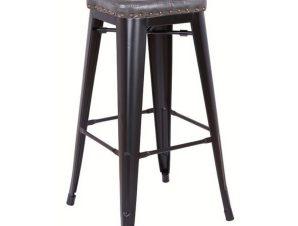 Σκαμπό Μπαρ Relix Black Matte/Dark Grey Ε5190P,12M 43x43x78cm