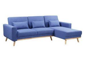 Καναπές – Κρεβάτι Γωνιακός (Αναστρέψιμη Γωνία) Backer Ε9911,1 253x152x70 H.86/216x179x45 Blue