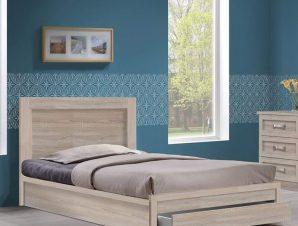 Κρεβάτι Με Αποθηκευτικό Χώρο Μονό Life ΕΜ3633,2 99x207x93/90x200cm Sonoma Μονό