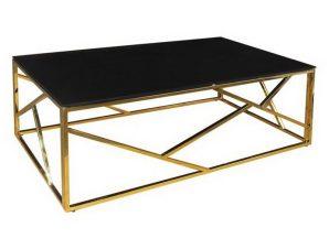 Τραπεζάκι Σαλονιού Palace ΕΜ524 120x60x45cm Gold-Black