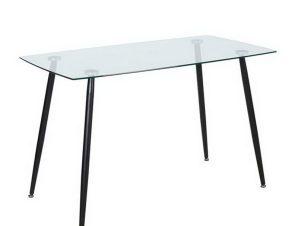 Τραπέζι Roby ΕΜ760,1 120x70x75cm Black Clear