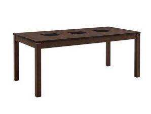 Τραπέζι Stillo Ε768 180x90x75cm Walnut-Black