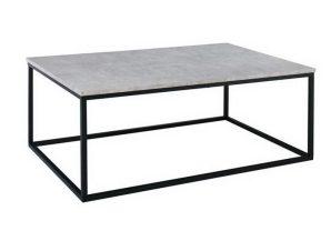 Τραπεζάκι Σαλονιού Texas ΕΜ744 115x75x45cm Black-Cement