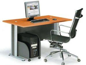 Γραφείο Basic ΕΟ996,1 120x80x75cm Dark Grey-Cherry