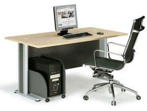 Γραφείο Basic ΕΟ997 150x80x75cm Dark Grey-Beech
