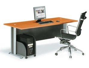 Γραφείο Basic ΕΟ998,1 180x80x75cm Dark Grey-Cherry