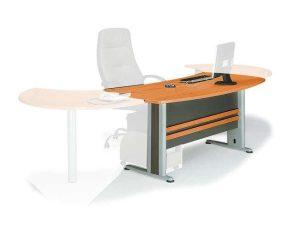 Γραφείο Executive ΕΟ999,1Γ 180x80x75cm Dark Grey-Cherry