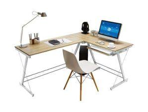 Γραφείο Αριστερή Γωνία ΕΟ408,2Α 110x120x48x73cm White-Maple