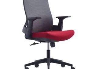 Πολυθρόνα Γραφείου BF8950 ΕΟ529,20 64x64x98/110cm Grey-Bordeaux