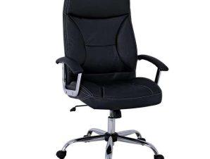 Πολυθρόνα Γραφείου Διευθυντική BF5700 ΕΟ299,1 64x72x112/121cm Black-Chrome