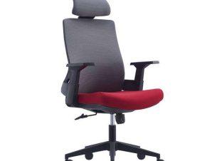 Πολυθρόνα Γραφείου Διευθυντική BF8900 ΕΟ528,20 64x66x116/128cm Grey-Bordeaux