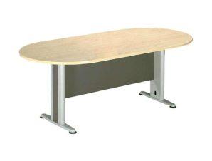 Τραπέζι Συνεδρίου ΕΟ146 180x90x75cm Dark Grey-Beech