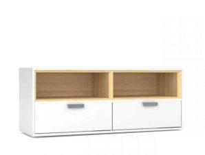 Επιπλο Τηλεόρασης Art 120X40X50 White TO-ART2N2SWH