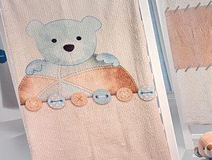 Κουβέρτα Βρεφική Βελουτέ Teddy Sky Saint Clair Κούνιας 110x140cm