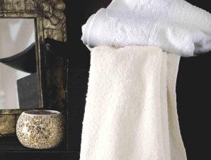 Πετσέτες Σετ με Δαντέλα Olivine White Ρυθμός 3τμχ Σετ Πετσέτες