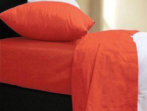 Σεντόνι Με Λάστιχο Basic Orange Nef-Nef Μονό 100x200cm