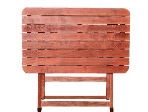 Τραπέζι Κερασί-Καρυδί 63-0020 60Χ80X74 cm